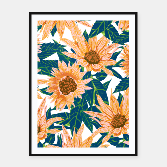 Thumbnail image of Blush Sunflowers Framed poster, Live Heroes