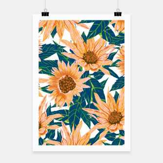Thumbnail image of Blush Sunflowers Poster, Live Heroes