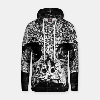 gxp skull on gravestone splatter watercolor black white Hoodie thumbnail image