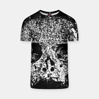 gxp skull on gravestone splatter watercolor black white T-shirt thumbnail image