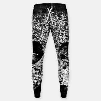 gxp skull on gravestone splatter watercolor black white Sweatpants thumbnail image
