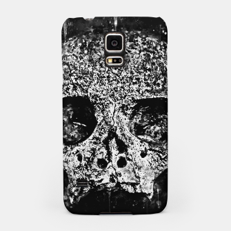 gxp skull on gravestone splatter watercolor black white Samsung Case thumbnail image
