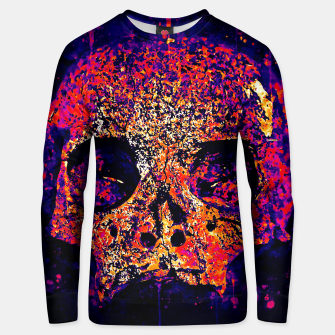 gxp skull on gravestone splatter watercolor purple pink Unisex sweater thumbnail image