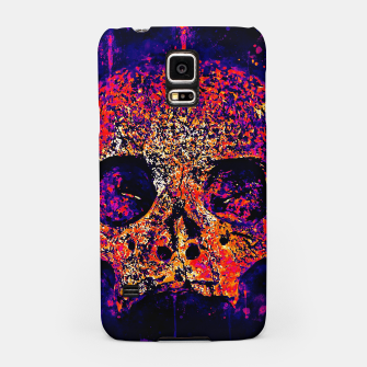 Thumbnail image of gxp skull on gravestone splatter watercolor purple pink Samsung Case, Live Heroes