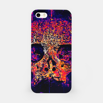 Thumbnail image of gxp skull on gravestone splatter watercolor purple pink iPhone Case, Live Heroes