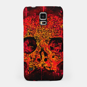Thumbnail image of gxp skull on gravestone splatter watercolor red edgy ember Samsung Case, Live Heroes