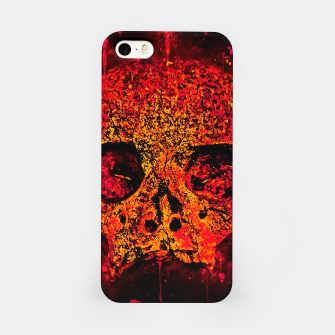 Thumbnail image of gxp skull on gravestone splatter watercolor red edgy ember iPhone Case, Live Heroes