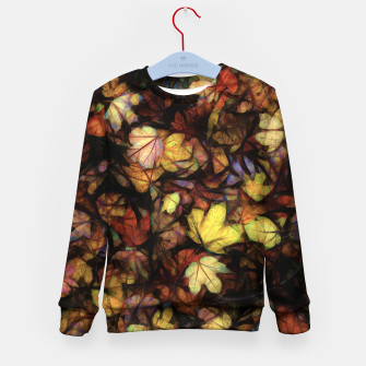 Thumbnail image of Late October Leaves Kid's sweater, Live Heroes