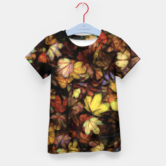 Thumbnail image of Late October Leaves Kid's t-shirt, Live Heroes