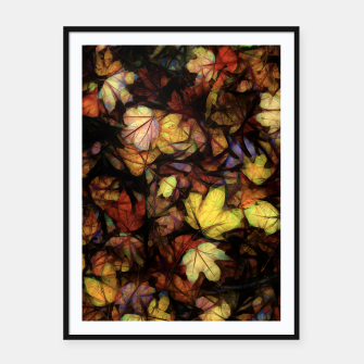 Thumbnail image of Late October Leaves Framed poster, Live Heroes