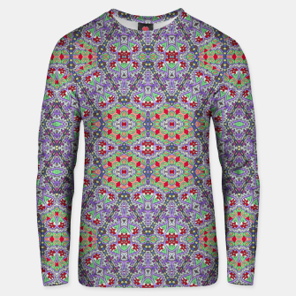 Miniatur Colorful Embroidery Folk Pattern Unisex sweater, Live Heroes