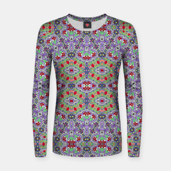 Miniatur Colorful Embroidery Folk Pattern Women sweater, Live Heroes