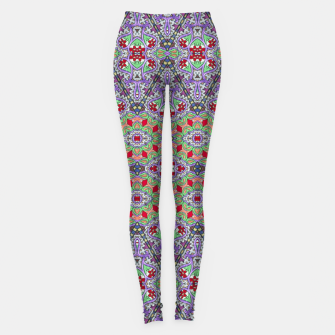 Miniatur Colorful Embroidery Folk Pattern Leggings, Live Heroes