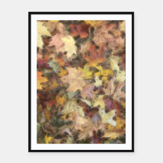 Thumbnail image of Late October Leaves Light Framed poster, Live Heroes