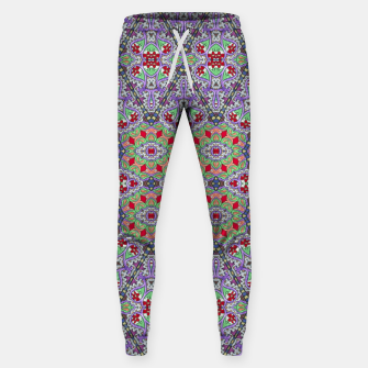 Miniatur Colorful Embroidery Folk Pattern Sweatpants, Live Heroes