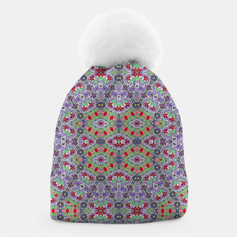 Miniatur Colorful Embroidery Folk Pattern Beanie, Live Heroes