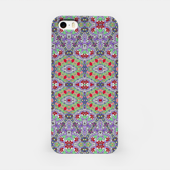 Miniatur Colorful Embroidery Folk Pattern iPhone Case, Live Heroes
