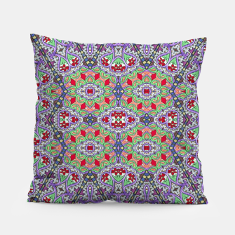 Miniatur Colorful Embroidery Folk Pattern Pillow, Live Heroes