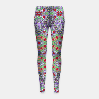 Miniatur Colorful Embroidery Folk Pattern Girl's leggings, Live Heroes