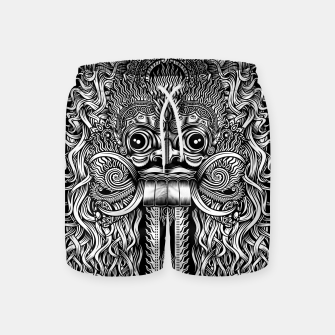 Thumbnail image of Bali Demon Mask Barong Swim Shorts, Live Heroes