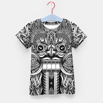 Thumbnail image of Bali Demon Mask Barong Kid's t-shirt, Live Heroes