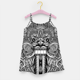 Thumbnail image of Bali Demon Mask Barong Girl's dress, Live Heroes
