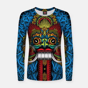 Thumbnail image of Bali Demon Mask Barong - Color Women sweater, Live Heroes