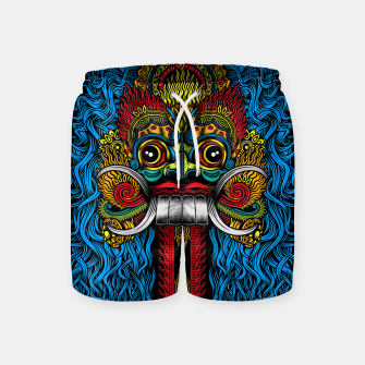Thumbnail image of Bali Demon Mask Barong - Color Swim Shorts, Live Heroes
