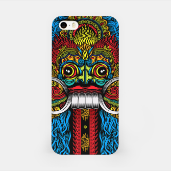 Thumbnail image of Bali Demon Mask Barong - Color iPhone Case, Live Heroes