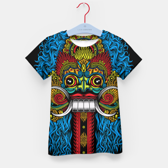 Thumbnail image of Bali Demon Mask Barong - Color Kid's t-shirt, Live Heroes