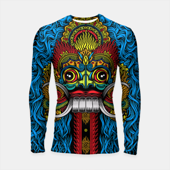 Thumbnail image of Bali Demon Mask Barong - Color Longsleeve rashguard , Live Heroes