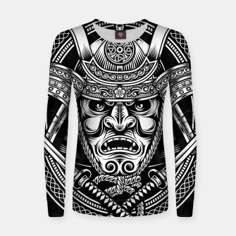 Thumbnail image of Samurai Warrior With Crossed Katana Women sweater, Live Heroes