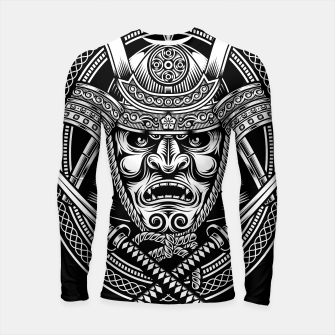 Thumbnail image of Samurai Warrior With Crossed Katana Longsleeve rashguard , Live Heroes