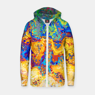 Thumbnail image of Colorful Cells Design Zip up hoodie, Live Heroes