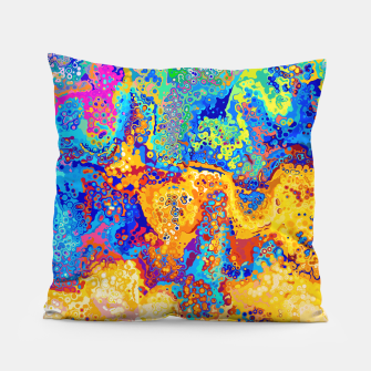 Thumbnail image of Colorful Cells Design Pillow, Live Heroes