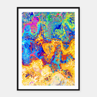 Thumbnail image of Colorful Cells Design Framed poster, Live Heroes