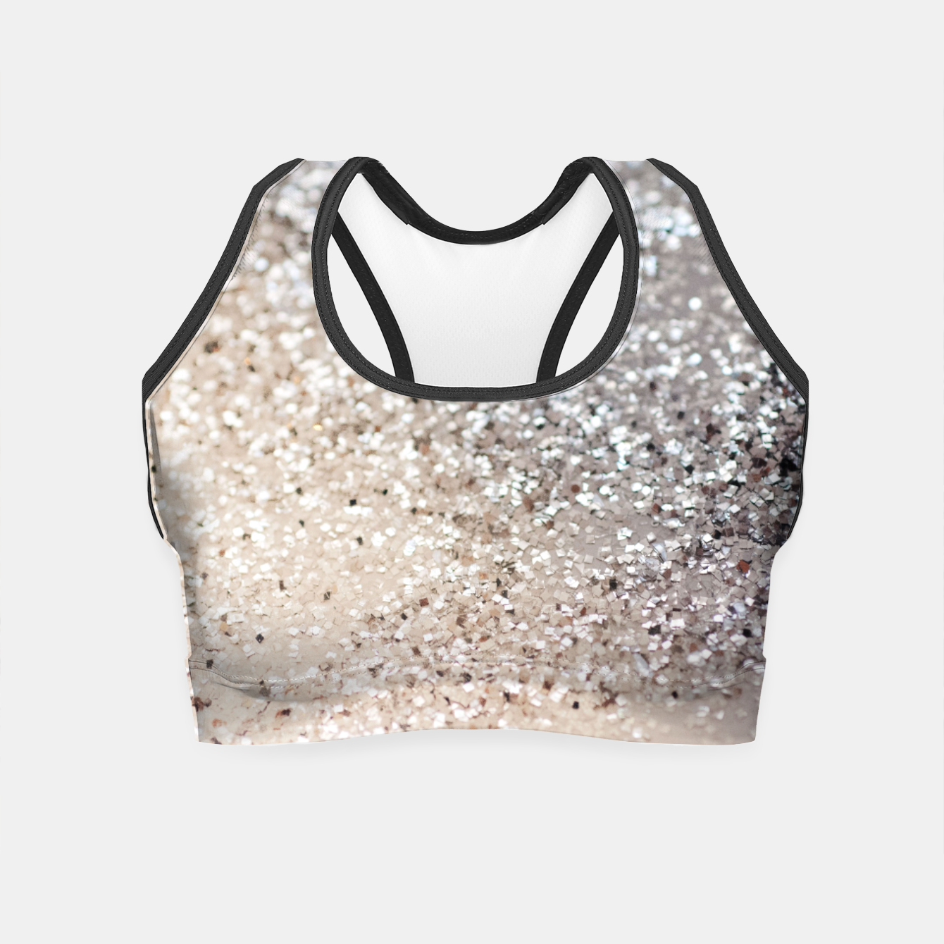 46c2994dd02445 Sparkling GOLD Lady Glitter  6  decor  art Crop Top