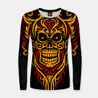 Thumbnail image of Skull Winged Ornate - Grunge Color Women sweater, Live Heroes