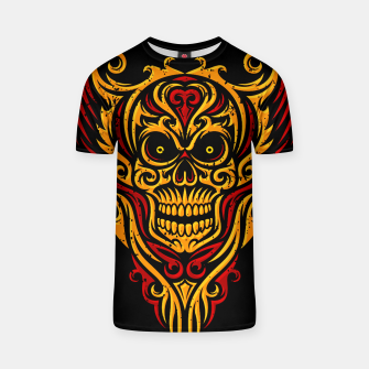 Thumbnail image of Skull Winged Ornate - Grunge Color T-shirt, Live Heroes