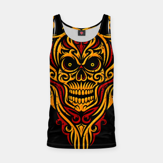 Thumbnail image of Skull Winged Ornate - Grunge Color Tank Top, Live Heroes