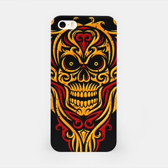 Thumbnail image of Skull Winged Ornate - Grunge Color iPhone Case, Live Heroes