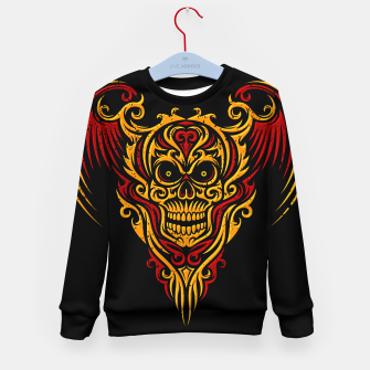 Thumbnail image of Skull Winged Ornate - Grunge Color Kid's sweater, Live Heroes