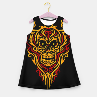Thumbnail image of Skull Winged Ornate - Grunge Color Girl's summer dress, Live Heroes