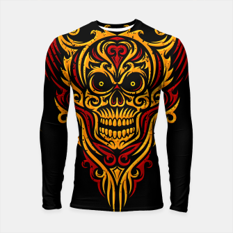 Thumbnail image of Skull Winged Ornate - Grunge Color Longsleeve rashguard , Live Heroes