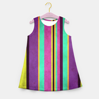Imagen en miniatura de Lines and Rectangles Girl's summer dress, Live Heroes