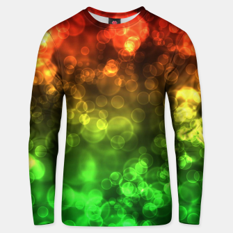 Thumbnail image of Red Green Bokeh Light Bubbles Unisex sweater, Live Heroes