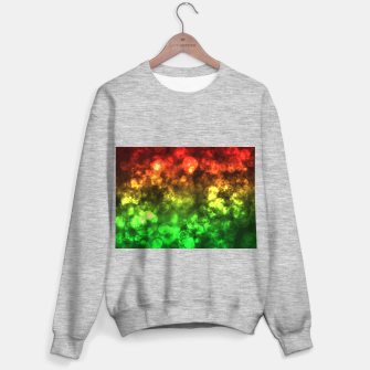 Thumbnail image of Red Green Bokeh Light Bubbles Sweater regular, Live Heroes