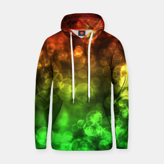 Thumbnail image of Red Green Bokeh Light Bubbles Hoodie, Live Heroes