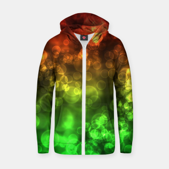 Thumbnail image of Red Green Bokeh Light Bubbles Zip up hoodie, Live Heroes