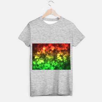 Thumbnail image of Red Green Bokeh Light Bubbles T-shirt regular, Live Heroes
